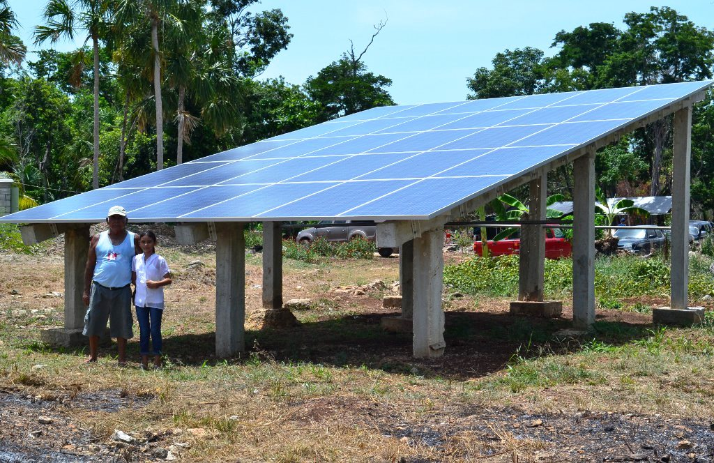 EEP inaugurates solar panels and a wind mill for a Tilapia Farm in Belize